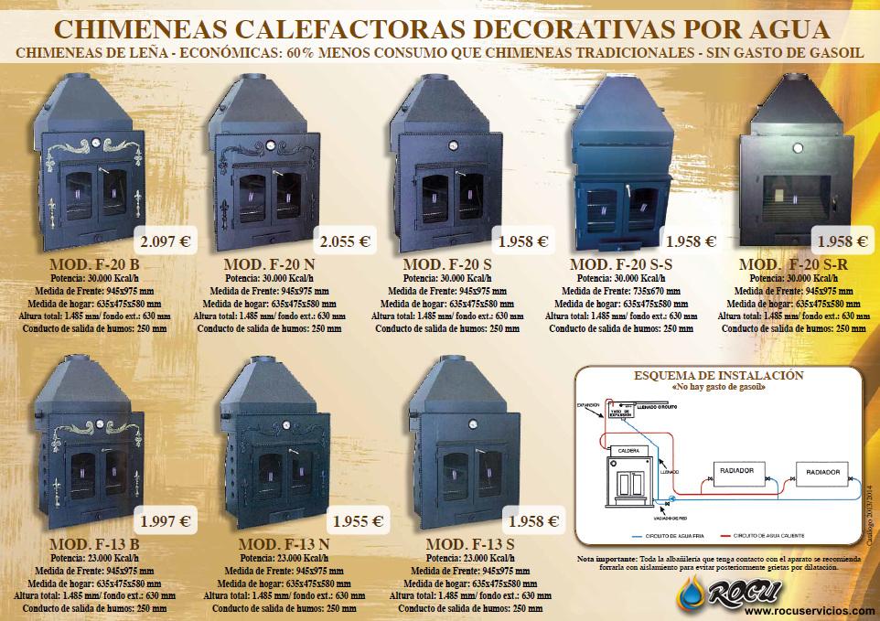 Chimeneas decorativas con calefacci n por agua en cantabria - Chimeneas para calefaccion por agua ...